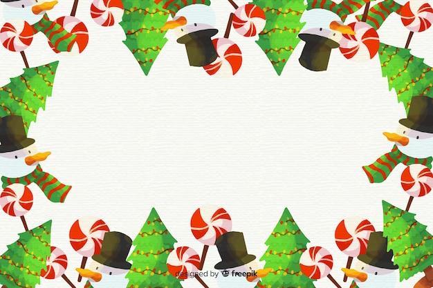 Fundo colorido de natal em aquarela