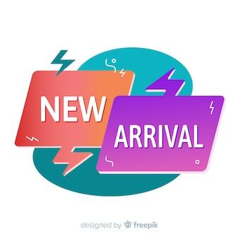 Fundo colorido de nova chegada