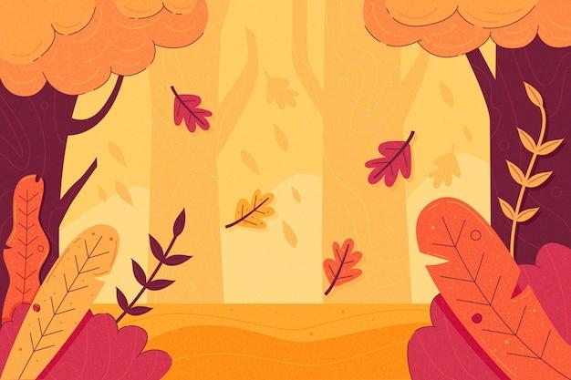 Fundo colorido de outono com folhas