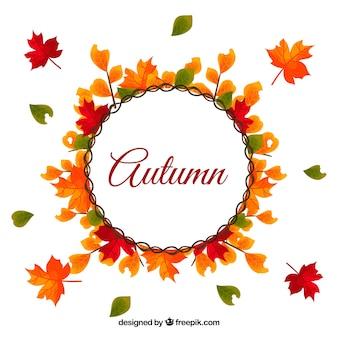 Fundo colorido de outono