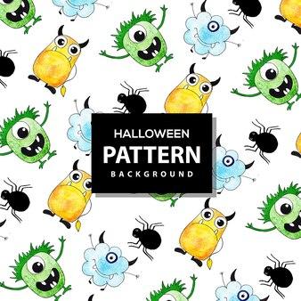 Fundo colorido de padrão de halloween