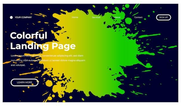 Fundo colorido de respingo para página inicial