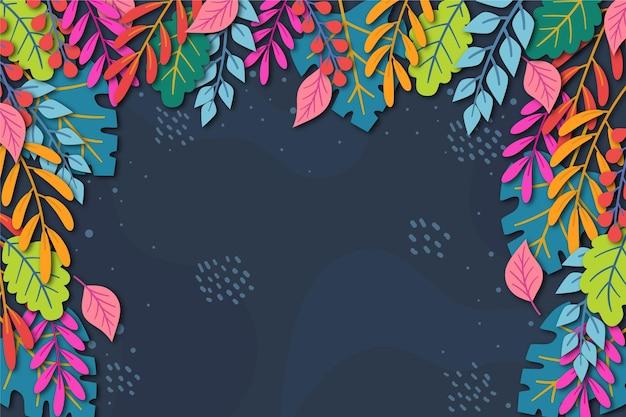 Fundo colorido de verão para design de zoom