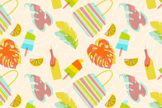 Fundo colorido de verão para zoom