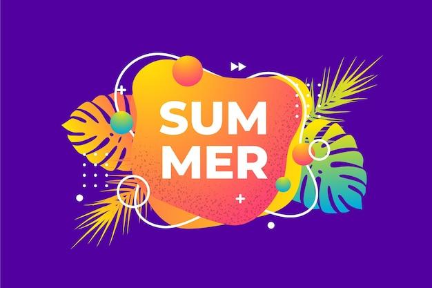 Fundo colorido de verão