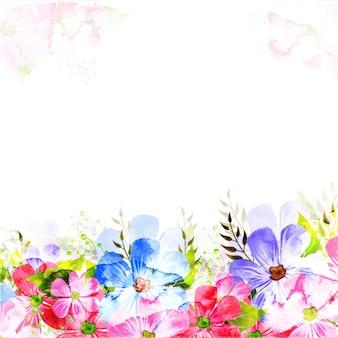 Fundo colorido decorado com flores.