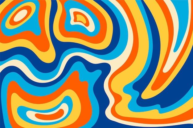 Fundo colorido desenhado à mão