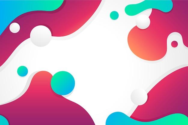 Fundo colorido design líquido