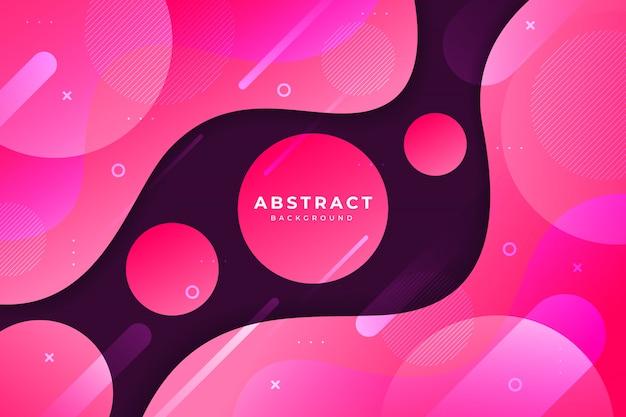 Fundo colorido dinâmico abstrato onda