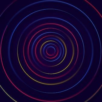 Fundo colorido dinâmico de círculos