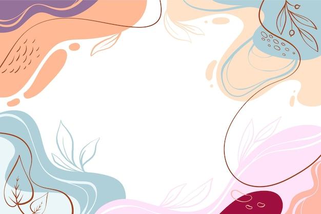 Fundo colorido dinâmico desenhado à mão