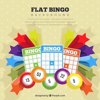 Fundo colorido do bingo