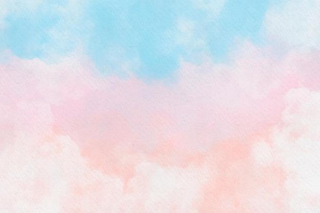 Fundo colorido do céu nublado