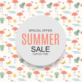 Fundo colorido do conceito da venda do verão. ilustração