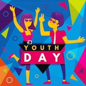 Fundo colorido do dia da juventude