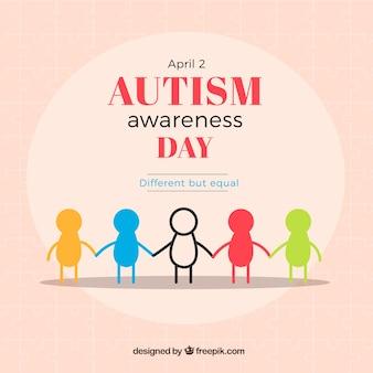 Fundo colorido do dia mundial do autismo