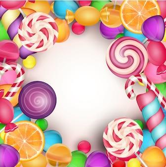 Fundo colorido doces