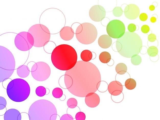 Fundo colorido dos círculos coloridos.