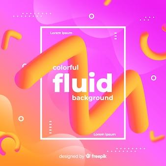 Fundo colorido e fluido de memphis