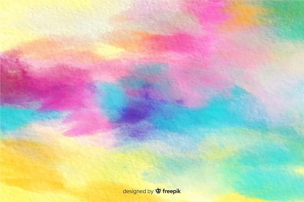 Fundo colorido efeito aquarela