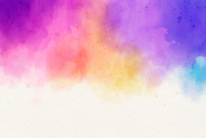 Fundo colorido em aquarela