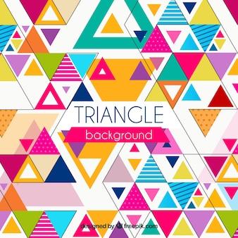 Fundo colorido em estilo triangular