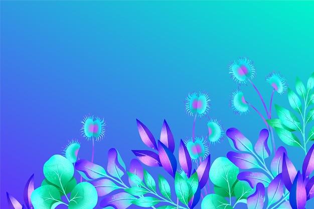 Fundo colorido exótico folhas tropicais