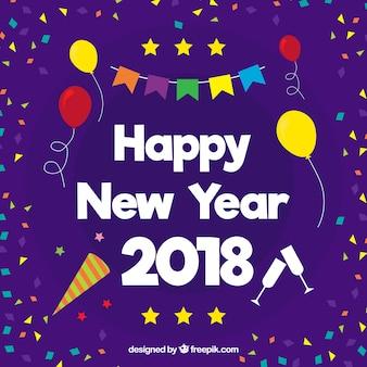 Fundo colorido feliz ano novo
