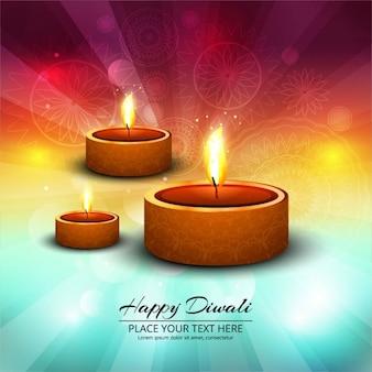 Fundo colorido feliz diwali