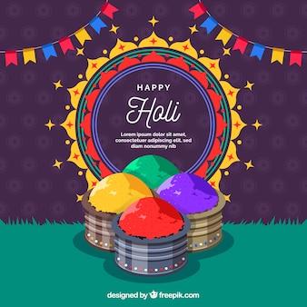 Fundo colorido festival holi gulal
