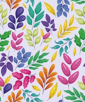 Fundo colorido floral