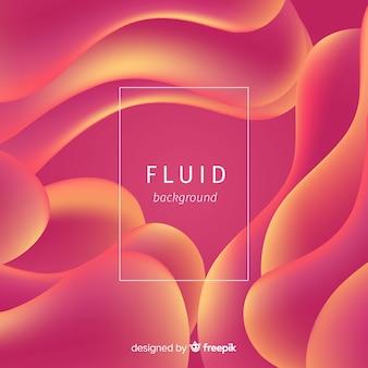 Fundo colorido formas fluidas