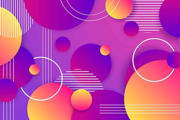 Fundo colorido formas geométricas gradientes