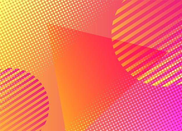 Fundo colorido formas geométricas.