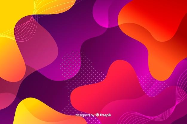 Fundo colorido formas gradiente líquido