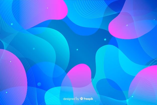 Fundo colorido formas onduladas