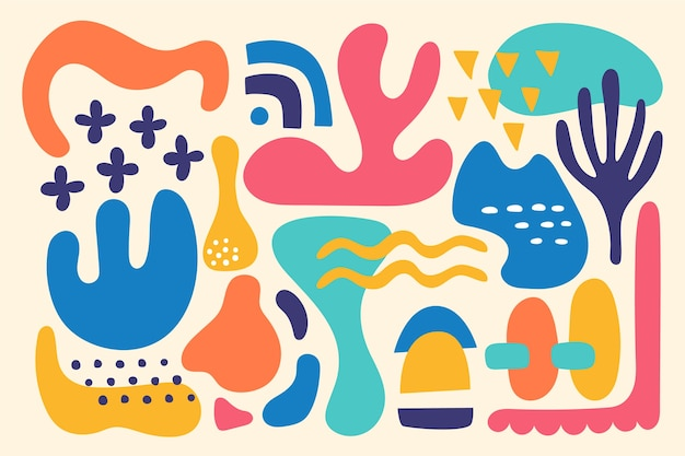 Fundo colorido formas orgânicas