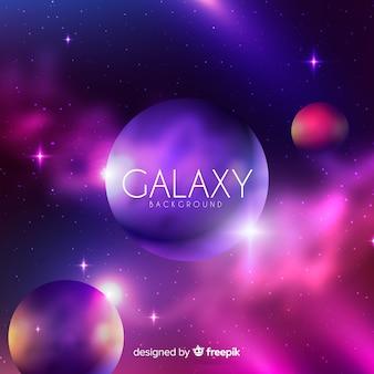 Fundo colorido galáxia com design realista