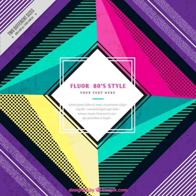 Fundo colorido geométrico moderno