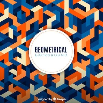 Fundo colorido geométrico