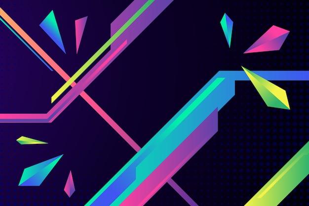 Fundo colorido gradiente formas geométricas