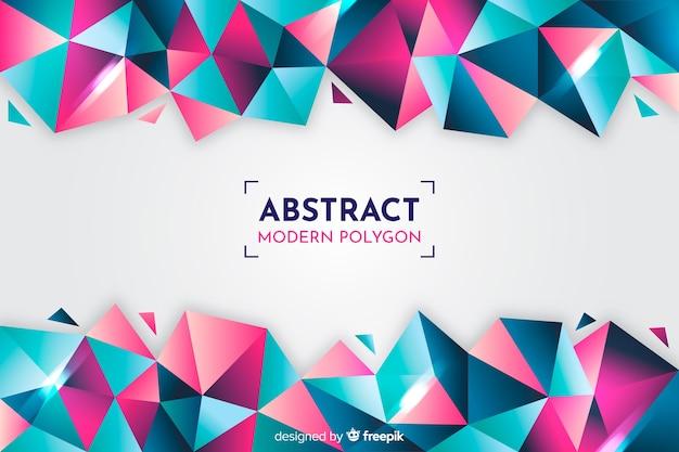 Fundo colorido gradiente modelos geométricos