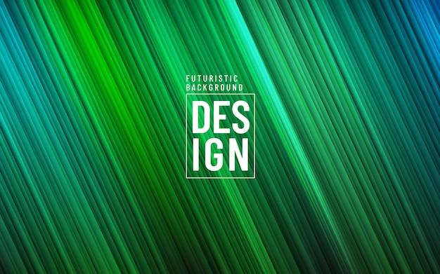 Fundo colorido gradiente na moda abstrato. fundo azul verde moderno com textura de linha de iluminação diagonal.