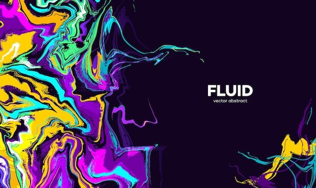 Fundo colorido líquido vibrante