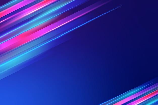 Fundo colorido luzes de néon