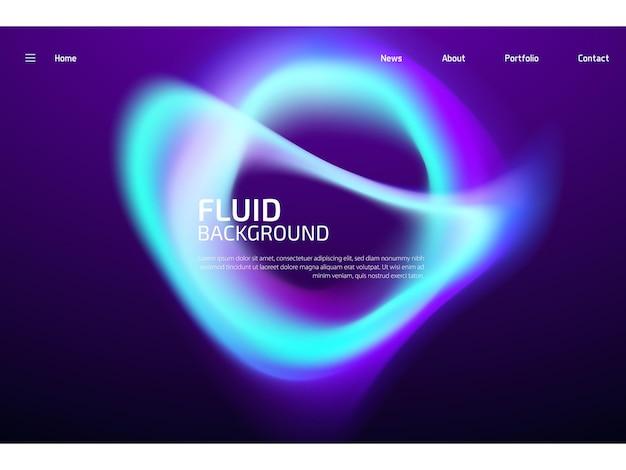 Fundo colorido moderno com forma gradiente de fluido