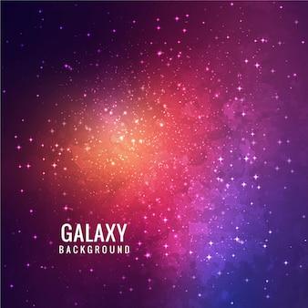 Fundo colorido moderno da galáxia
