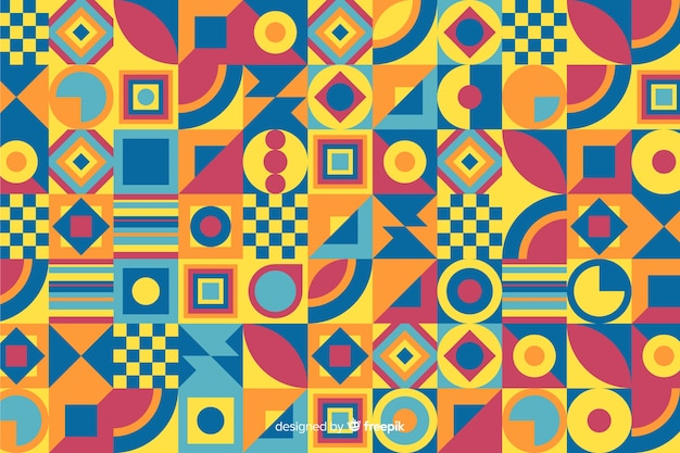 Fundo colorido mosaico geométrico decorativo