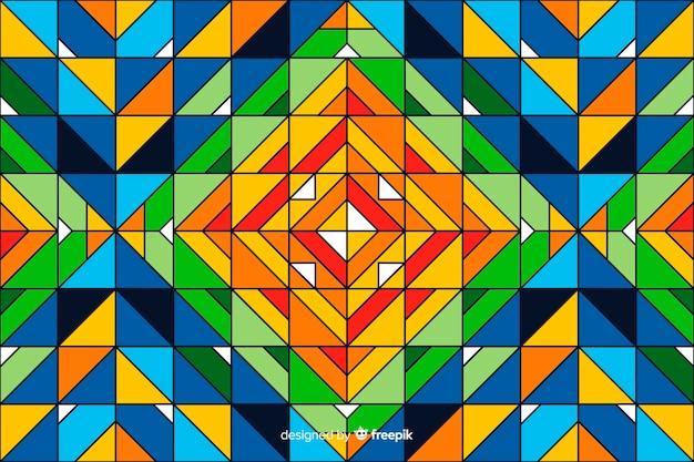 Fundo colorido mosaico geométrico