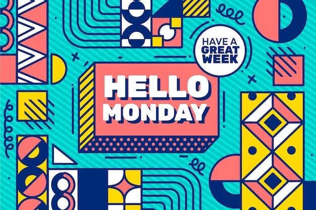 Fundo colorido olá segunda-feira